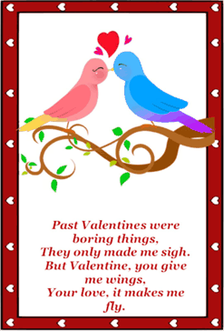 Birds Poem Valentines Card valentine