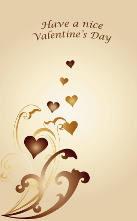 Golden Hearts valentine