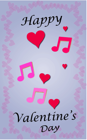 Hearts and Music valentine