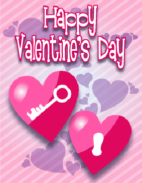Lock And Key Hearts Small valentine