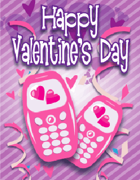 Two Cell Phones Small valentine