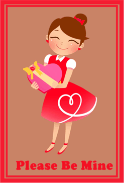 Valentines Card for Woman valentine