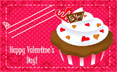 Cupcake School Valentines Cards (5 cards per page) valentine