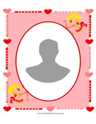 Cupid Valentines Photo Frame