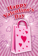 Shopping Bag Valentines Card