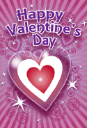 Sparkling Nested Hearts Valentines Card