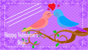 Turtle Doves Valentines Business Cards (10 cards per page)