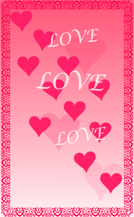 picture about Valentine Borders Free Printable identified as Hearts and Border Printable Valentine